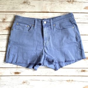 J Crew 29 High Rise Bright Peri Purple Jean Shorts